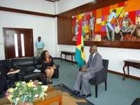 Embaixadora de Cuba recebida pelo Presidente da ANSTP