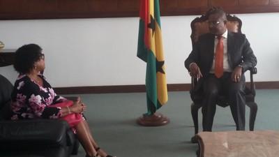 Audiência com a Encarregada de Negócios de Cabo Verde