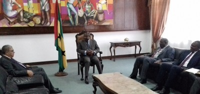Audiência com o Presidente da Assembleia Legislativa do Príncipe